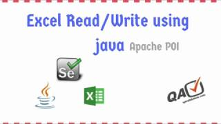 Read & write excel sheet data in Java using Apache POI