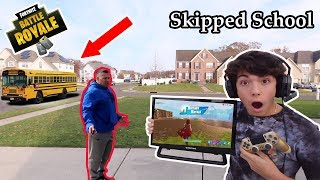 I Skipped SCHOOL To Play Fortnite All Day! (PARENTS FREAKED OUT) PART 2