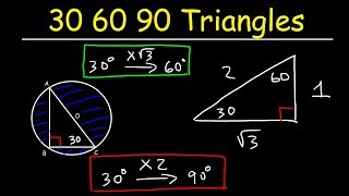 30-60-90 Special Right Triangles For ACT & SAT Math - Geometry & Trigonometry