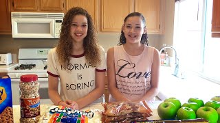 Chocolate Caramel Candy Apples DIY Recipe!!  (Haschak Sisters)