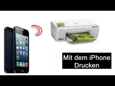 Mit dem iPhone Drucken (Ohne Airprint Drucker)