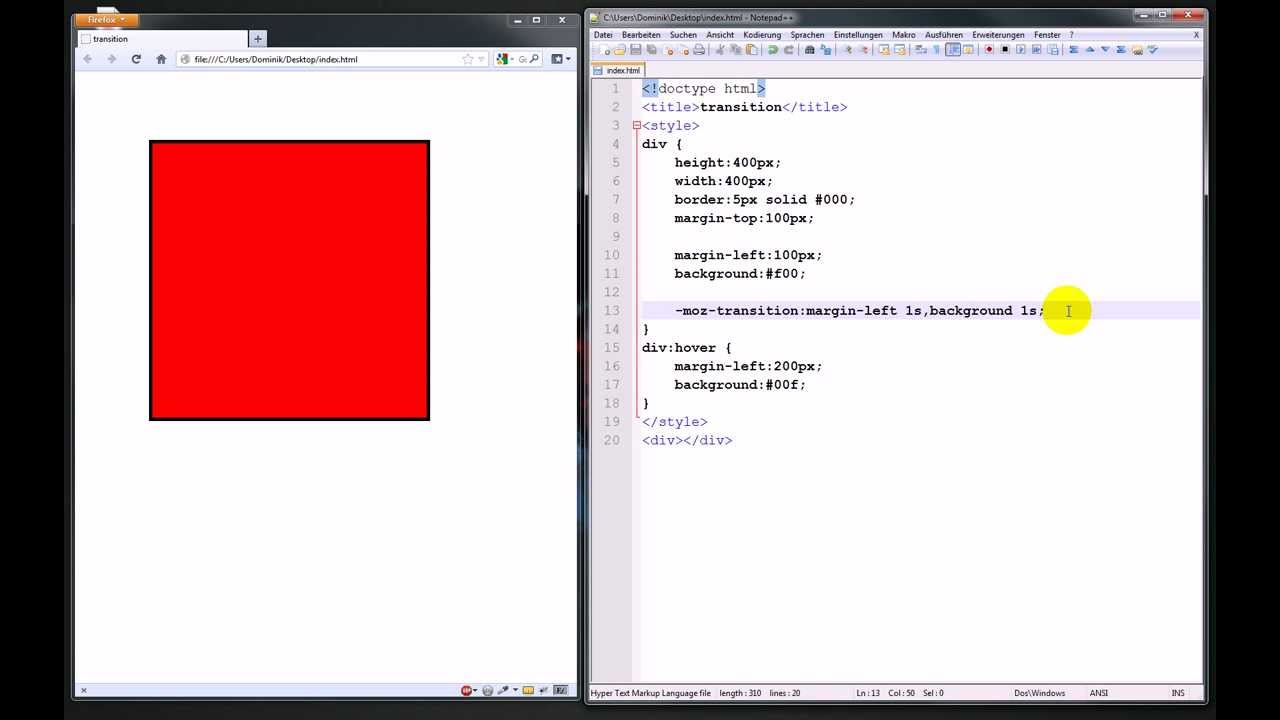 Animationen mit CSS3-Transitions – Webdesign-Tutorial