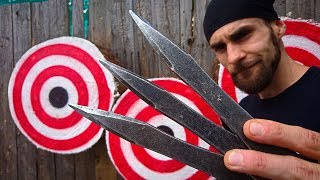 How to Train Like a NO-SPIN Knife Throwing WORLD CHAMPION Adam Celadin ?