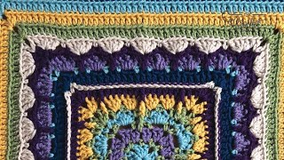 Crochet All In The Family Blanket Stitch Along - Rnds 1-15