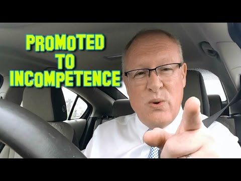 Promoted To Incompetence In The Driving Seat