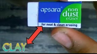 Clay with only 1 ingredient | ERASER | in 2 mins