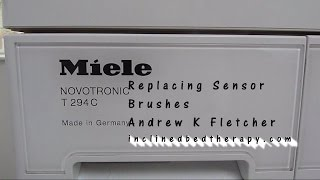 Repair Miele Tumble Dryer Noisy How To Examine Sensor Brushes and Replace Part cost £43.00 Easy