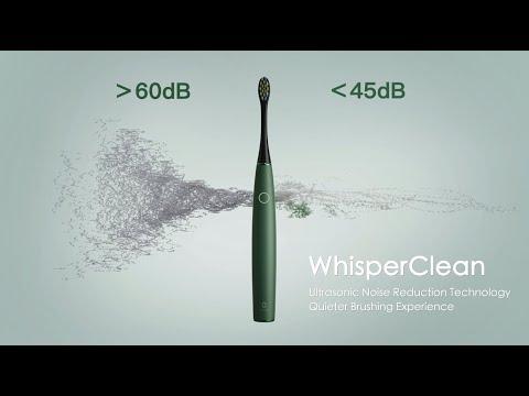 OCLEAN elektrinis dantų šepetėlis AIR 2, rožinė spalva, 1 vnt.+USB magnetinis įkroviklis, 1 vnt.