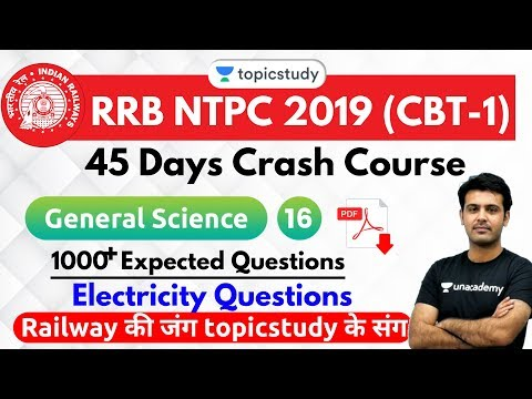 6:30 PM - RRB NTPC 2019   GS by Aman Sir   1000+ Expected Questions (Electricity Questions)