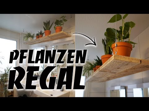 Regal selber bauen - Pflanzen Hängeregal DIY aus Altholz upcycling