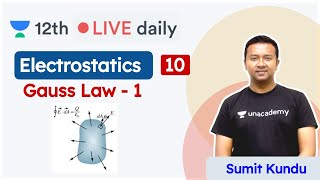 CBSE Class 12: Electrostatics L10 | Gauss Law | Physics | Unacademy Class 11 & 12 | Sumit Sir - Download this Video in MP3, M4A, WEBM, MP4, 3GP