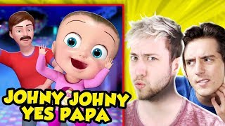 REACTING TO JOHNY JOHNY YES PAPA & More Weird Nursery Rhymes! (The Pals React)