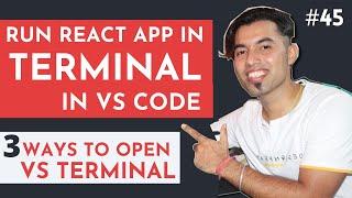 How to Run React App in VS Code inbuilt Terminal in 2020 #45