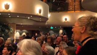 Gallipoli Cruise Choir 2015 sings 'Hello Hello Who's Your Lady Friend?'