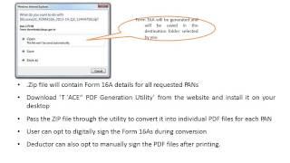 Traces Pdf Generation Utility