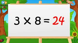 Learn Multiplication - Table of Three 3 x 1 = 3 - 3 Times Tables