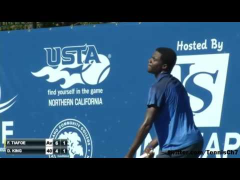 Frances Tiafoe vs Darian King Highlights FAIRFILED 2015
