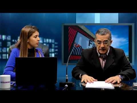 No estúdio do Jornal + Bragança o Diretor da Fatec Bragança Paulista