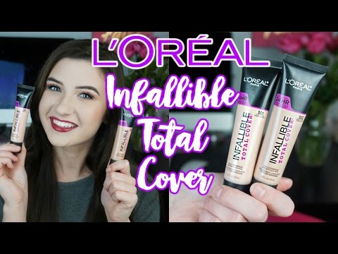 L'Oreal Infallible TOTAL COVER Foundation | Review + Shade Comparison Swatches