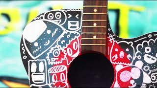 Custom Guitar Art - Doodles And Colors