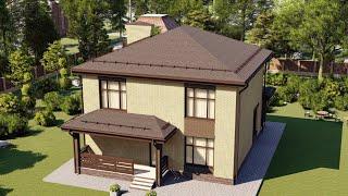 Проект дома 153-E, Площадь дома: 153 м2, Размер дома:  10x10,4 м