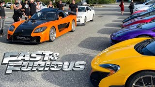 HOW TO EMBARRASS SUPERCAR OWNERS - BRING FAST & FURIOUS RX7!