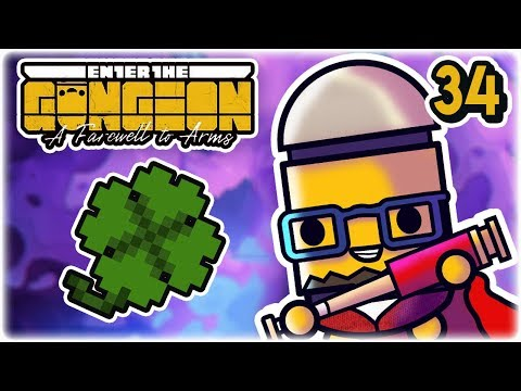 Seven Leaf Clover Start | Part 34 | Let's Play: Enter the Gungeon: Farewell to Arms | Gameplay