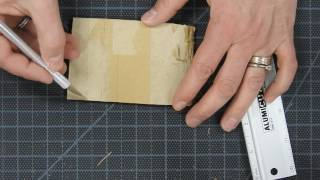Working with cardboard--making a curved form