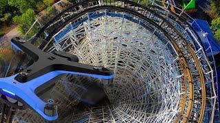 Skydio 2 Drone Flying Through Tight Spaces - Elitch Gardens Denver Colorado