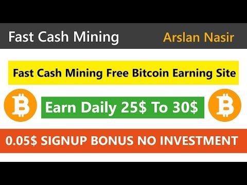 Fast Cash Mining   Earn Free Bitcoin New Free Bitcoin Mining