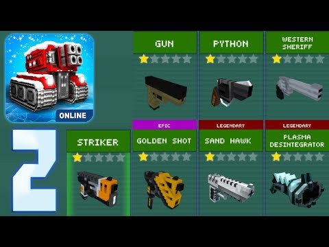 Blocky Cars Online - Using All Pistols Challenge - Gameplay Part 2