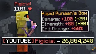 WORLD RECORD damage on a dragon (Hypixel Skyblock)