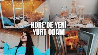 GÜNEY KORE'DEKİ YENİ YURT ODAM!   2018 ODA TURU!