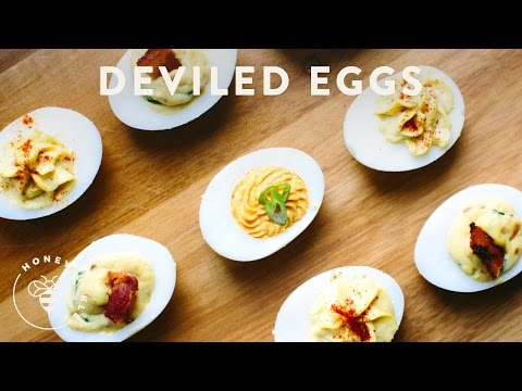 Video 3 Deviled Eggs Recipes for your next Party - Honeysuckle