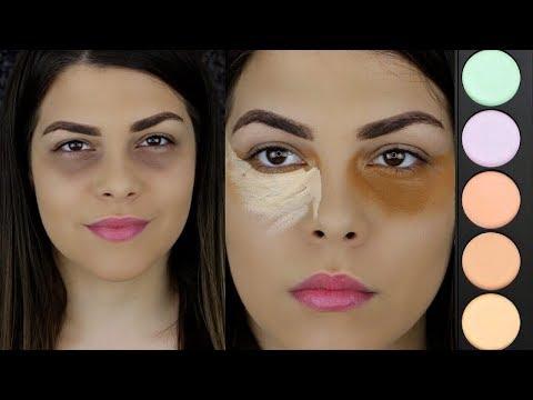 Como Cubrir y Corregir Ojeras Oscuras con un Corrector de 5 $