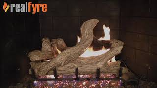 Peterson Real Fyre See Through Vented Gas Log Set- Coastal Driftwood