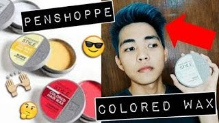 PENSHOPPE COLORED  HAIR WAX REVIEW!!! (PH)