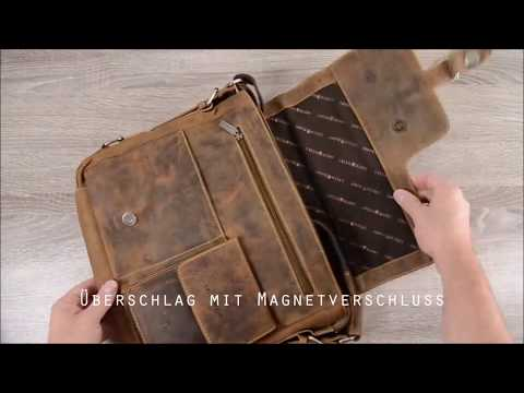 Greenburry Umhängetasche Leder Vintage 1913M-25