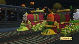 Halloween with Humpty the train for kids   for children   happy halloween   kindergarten   Kiddiestv