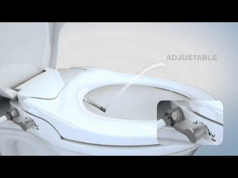hibbent bidet toilet seats with cover non electric washlet soft close and dual nozzles sprayer youtube