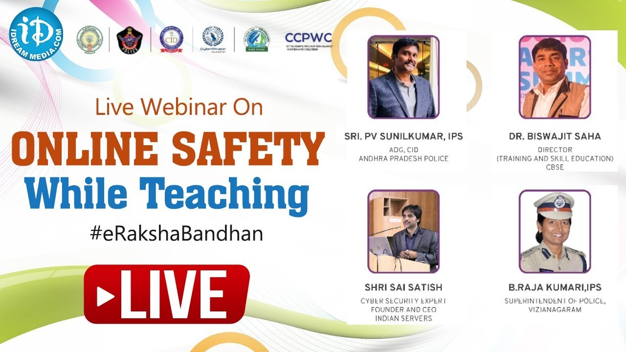 Live Webinar On Online Safety While Teaching #eRakshaBandhan