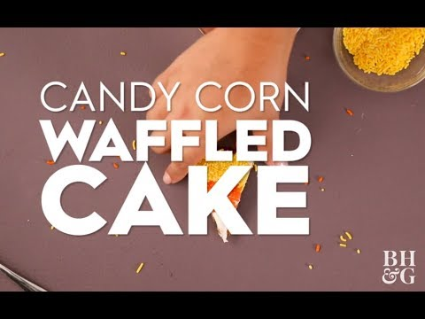 Candy Corn Waffled Cakes | Fun With Food | Better Homes & Gardens