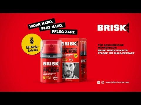 BRISK for Men – Anwendungsvideo – Gesichtspflege – Feuchtigkeitspflege