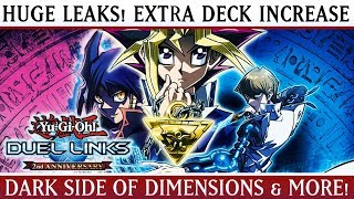 Yu-Gi-Oh! Duel Links | HUGE LEAKS! Dark Side Of Dimensions World! INCREASE Extra Deck Size & More!
