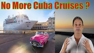 New Restrictions for Travel to Cuba