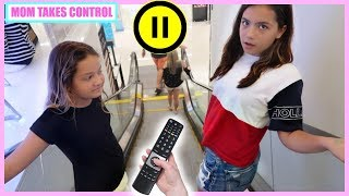 PAUSE & MUTE CHALLENGE !!! MOM TAKES CONTROL FOR 24 HOURS | SISTER FOREVER