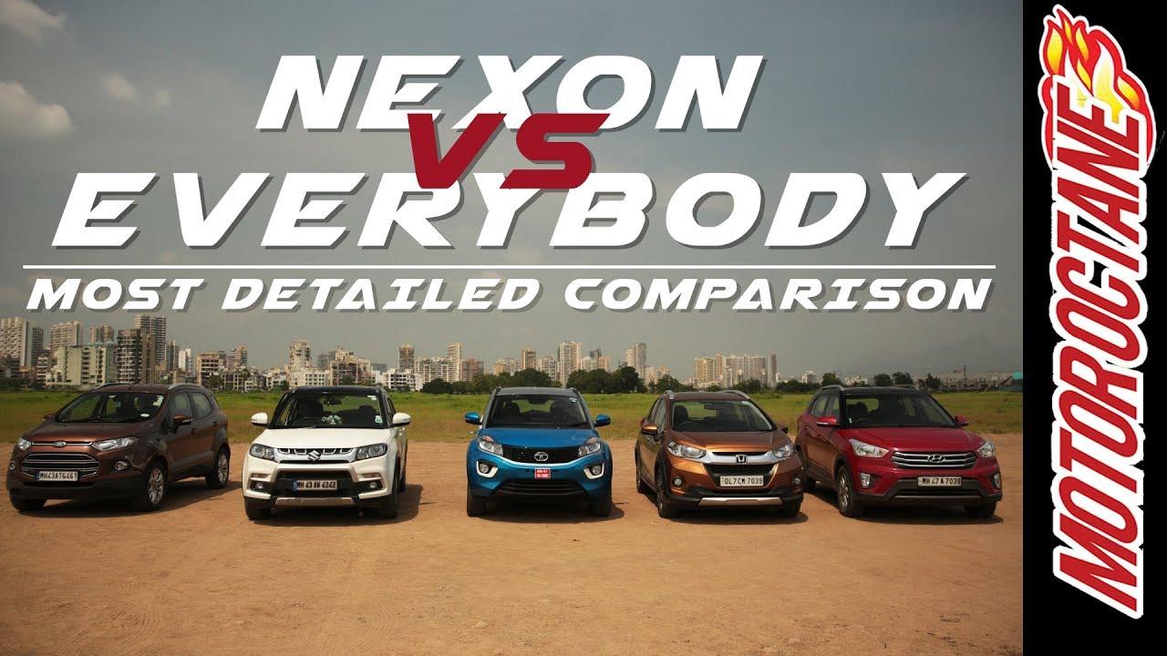 Motoroctane Youtube Video - Tata Nexon vs Maruti Vitara Brezza vs Hyundai Creta vs Honda WRV Vs Ford EcoSport in Hindi