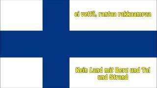 Die Nationalhymne Finnlands - Anthem of Finland (FI/DE Text)