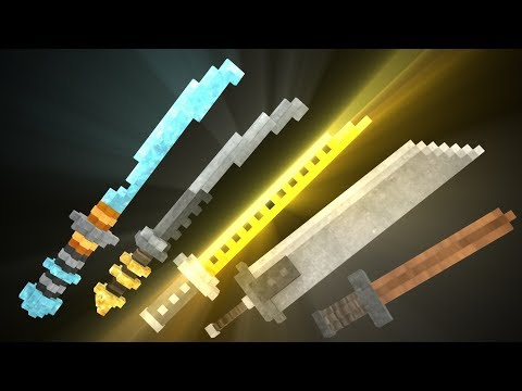 3d glowing swords pack 1 8 1 13 minecraft texture pack