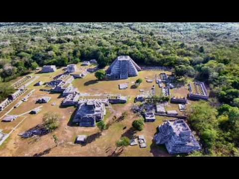 Mayan ruins in Mayapan, in the Yucatan Peninsula, Mexico